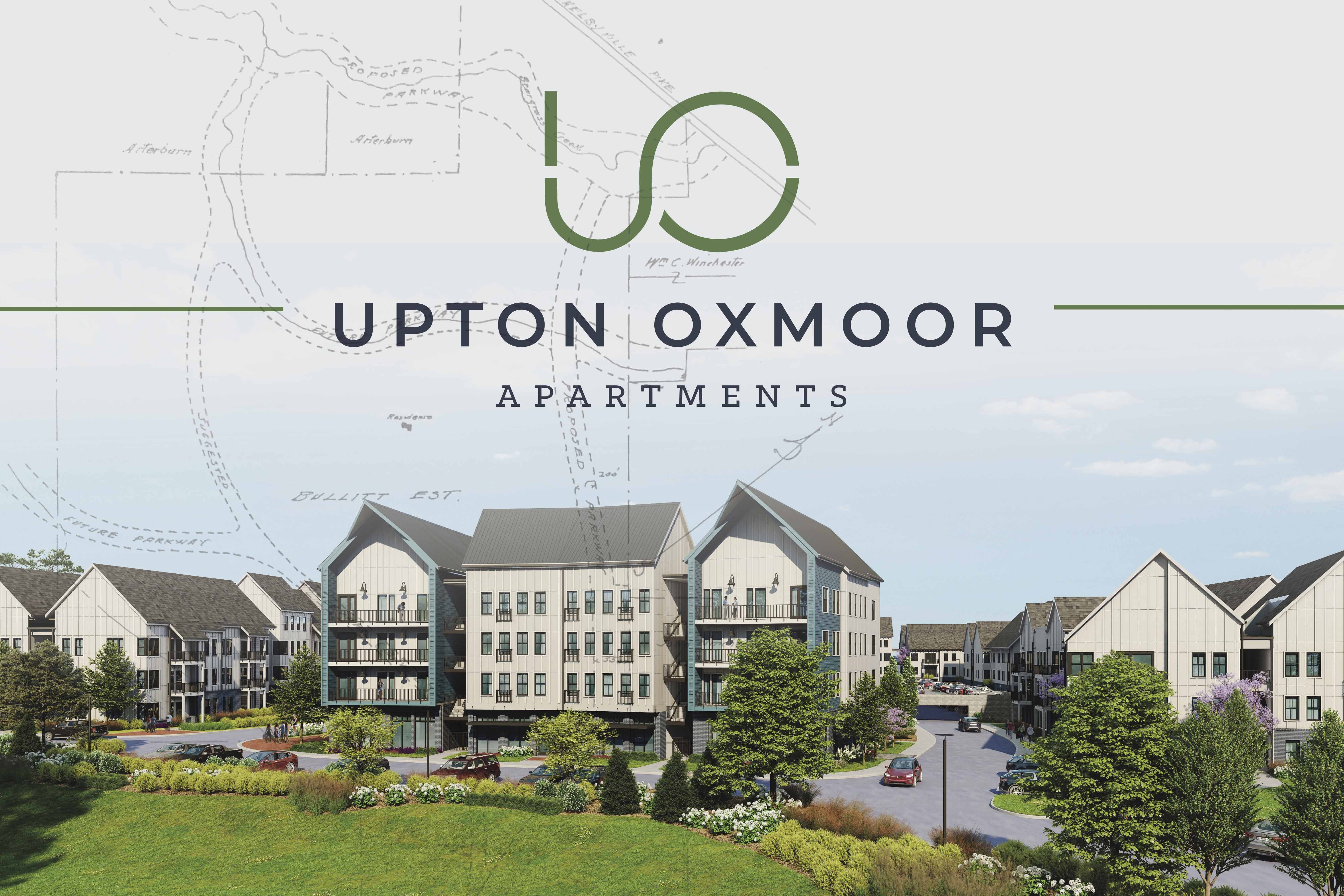 Upton Oxmoor Rendering of apartments and neighborhood