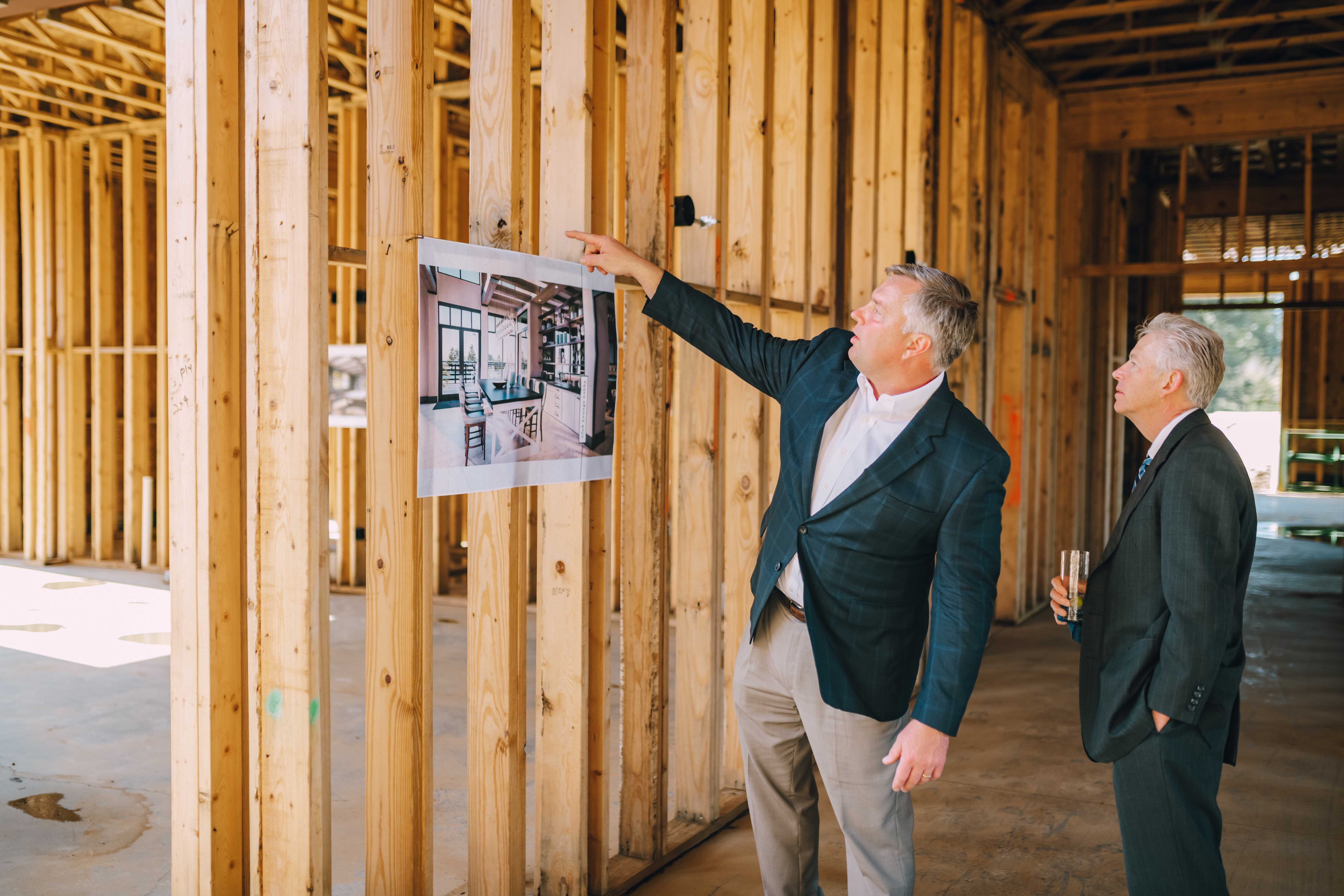 Senior Vice President of NTS Development, Matt Ricketts touring construction site